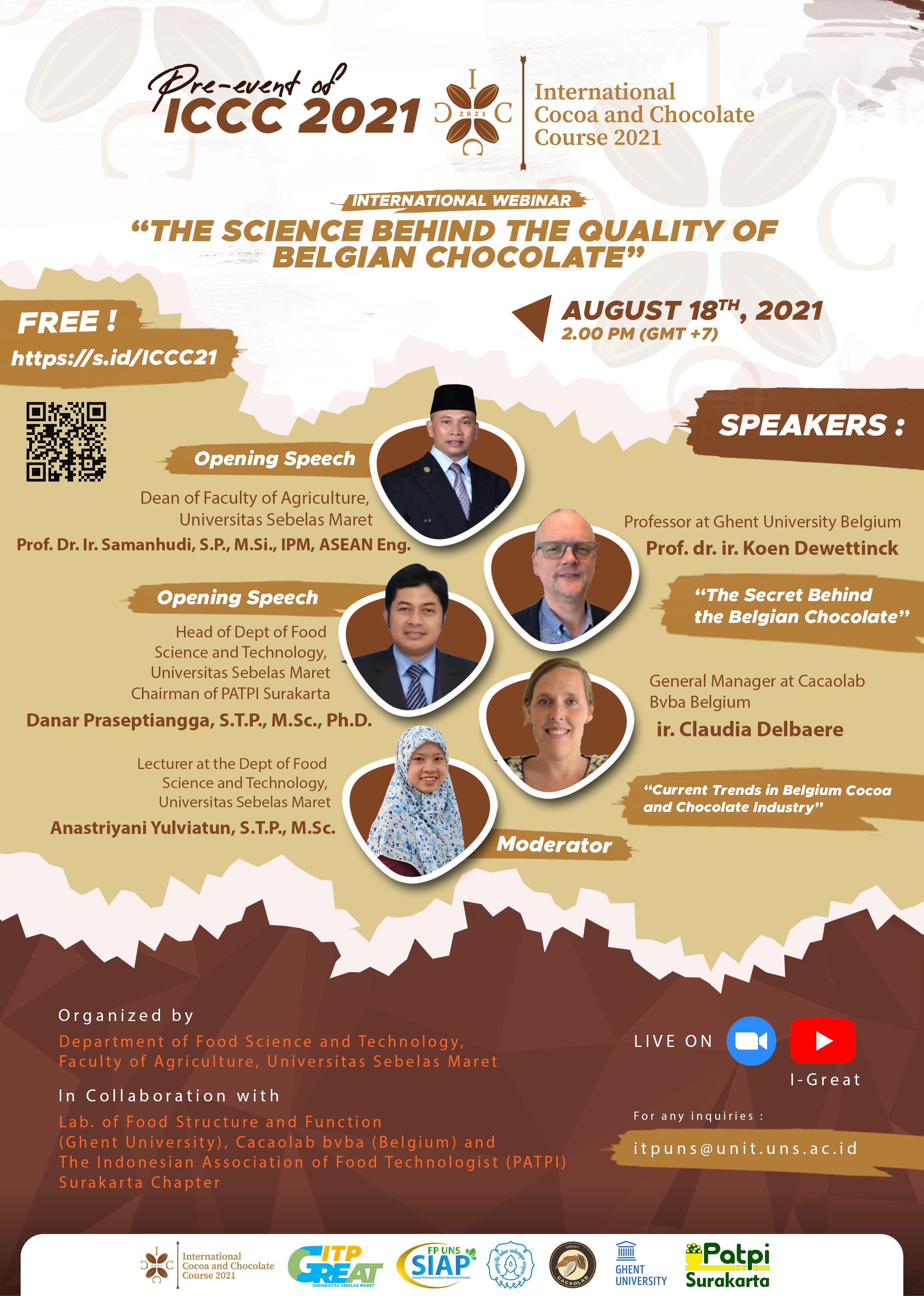 """International Webinar: """"The science behind the quality of Belgian Chocolate"""""""